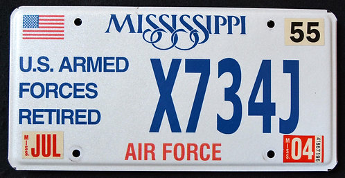 MS U.S. Armed Forces Retired - Air Force
