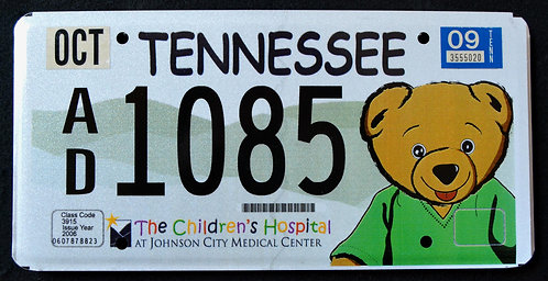 TN Teddy Bear - Children`s Hospital - Johnson City Medical Center - AD1085