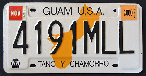 Guam USA - Island Map - Tano Y Chamorro - 4191MLL