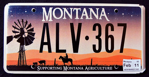 MT Supporting Montana Agriculture - Windmill - Horse - Cowboy