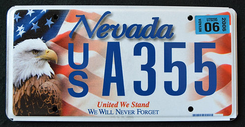 NV United We Stand - We Will Never Forget - 9/11 - Eagle - Flag