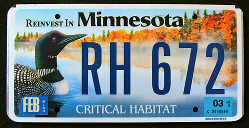 MN Critical Habitat - Wildlife Duck - Loon - Bird