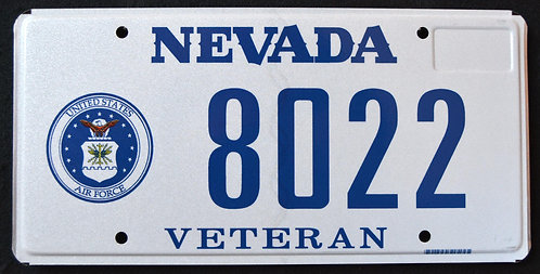 NV Veteran - United States Air Force - 8022