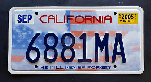 CA California - We Will Never Forget - 9/11 - US Flag - 6881MA
