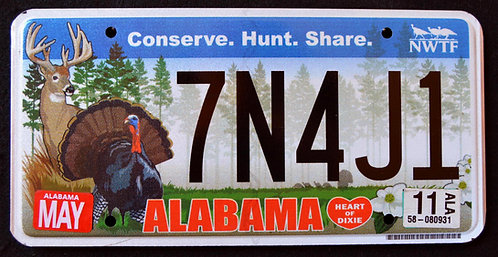 AL Alabama - Wildlife Deer - Turkey - Bird - 7N4J1