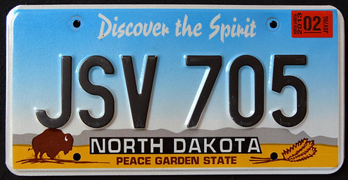 ND Discover The Spirit - Peace Garden State - Wildlife Bison - Buffalo - JSV705