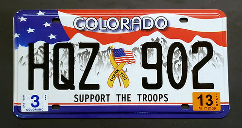 CO Support The Troops - Flag - HQZ 902