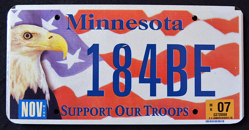 MN Support Our Troops - Eagle - Flag
