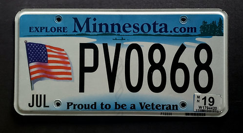 MN Proud to be a Veteran - United States Flag - PV0868