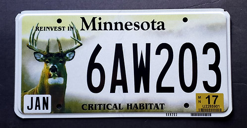 MN Wildlife Deer - Critical Habitat 6AW203