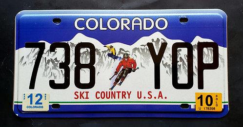 CO Colorado - Ski Country USA - Skier - Snowboarder - Winter Sport - 738 YOP