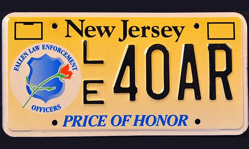 NJ Price of Honor - Fallen Law Enforcement Police Officers - LE40AR