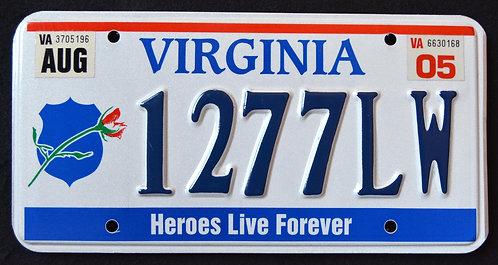 VA Virginia -  Heroes Live Forever - Fallen Police Officers