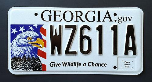 GA Wildlife Bald Eagle - Give Wildlife a  Chance - Bird - WZ611A