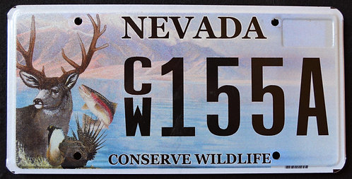 NV Conserve Wildlife - Deer - Trout - Fish - CW155A