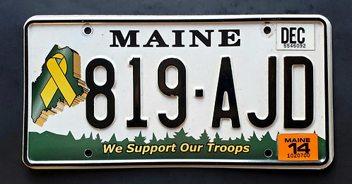 ME Maine - We Support Our Troops - 819 AJD