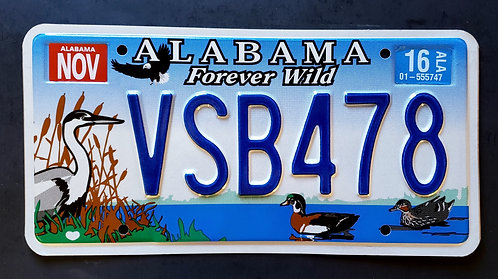 AL Forever Wild - Wildlife Heron Bird Duck Eagle - VSB478
