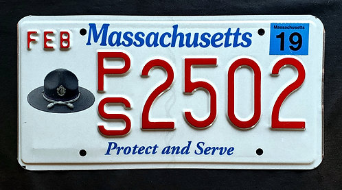 MA Massachusetts - Protect and Serve - Police - Law Enforcement - PS2502