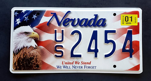 NV United We Stand - We Will Never Forget - 911 - Eagle - US Flag - US2454