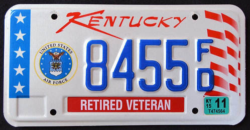 KY United States Air Force - Retired Veteran - 8455 FD