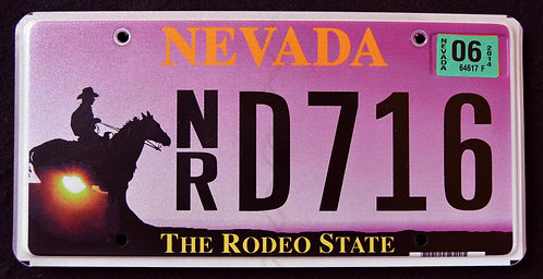 NV The Rodeo State - Cowboy - Wildlife Horse