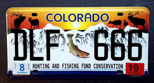 CO Wildlife Elk Deer Trout Fish - Hunting and Fishing Conservation - DLF 666
