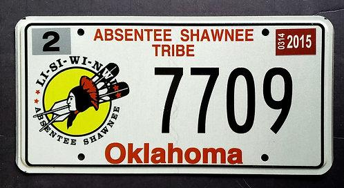 OK Absentee Shawnee Tribe - 7709