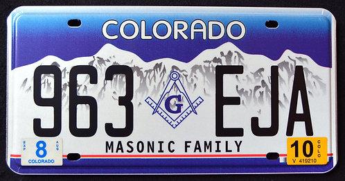 CO Masonic Family - Freemason - 963 EJA