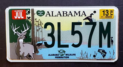 AL Alabama - Wildlife Deer Bass Fish Bird Duck Turkey Heron Heart of Dixie 3L57M