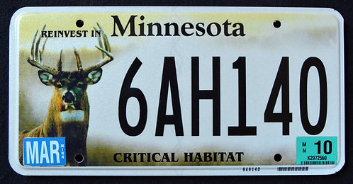 MN Minnesota - Wildlife Deer - Critical Habitat - 6AH140
