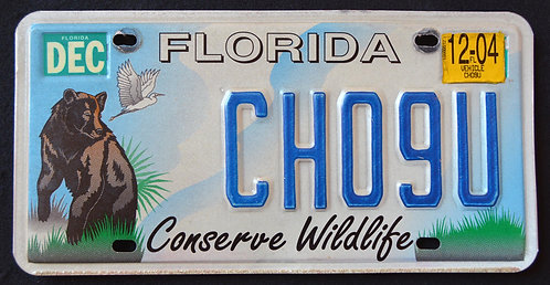 FL Conserve Wildlife Black Bear - Heron - Bird - CH09U