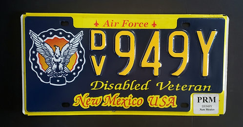 NM Disabled Veteran - Air Force - DV949Y