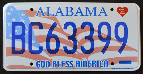 AL God Bless America - US Flag - Heart of Dixie - BC6399