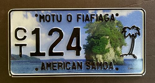 American Samoa - Motu O Fifiaga - Rock - Palm Tree