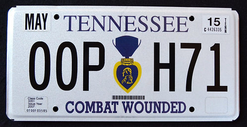 TN Purple Heart Veteran - Combat Wounded - 00PH71