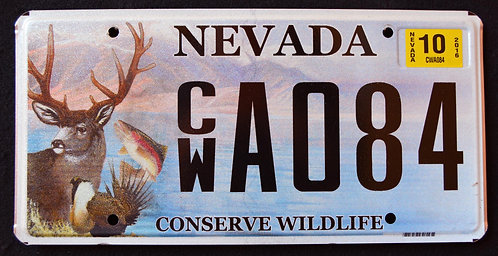 NV Conserve Wildlife Deer - Trout - Fish - CWA084