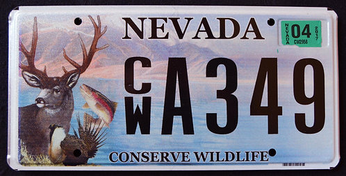 NV Conserve Wildlife Deer - Trout - Fish - CWA349