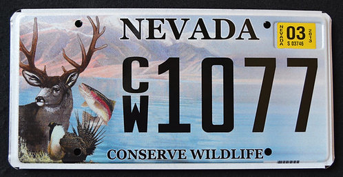 NV Conserve Wildlife - Deer - Trout - Fish