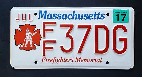 MA Firefighters Memorial - Fire Fighter - FF37DG