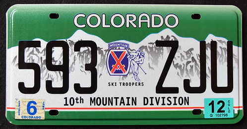 CO Ski Troopers 10th Mountain Division - 593 ZJU