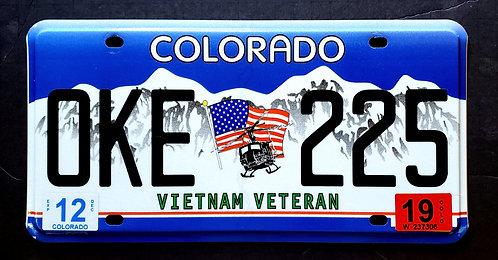 CO Vietnam Veteran - Bell Chopper - Helicopter - Flag - OKE 225