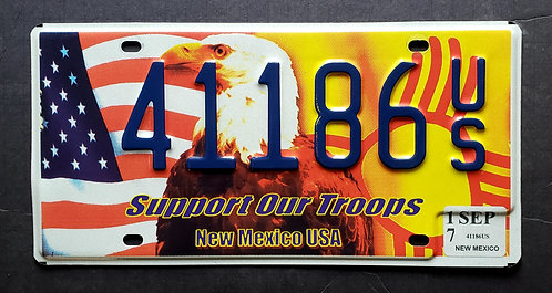 NM Support Our Troops - Eagle - Flag - 41186US