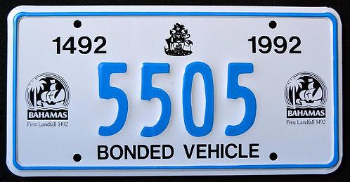 Grand Bahama - Bonded Vehicle - 500 Years First Landfall - Christopher Columbus