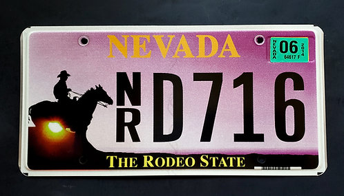 NV The Rodeo State - Cowboy - Horse - NRD716
