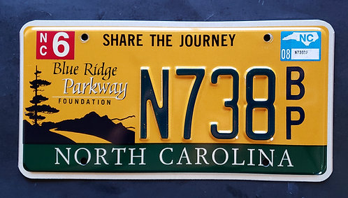 NC North Carolina Blue Ridge Parkway - Share The Journey - N738BP
