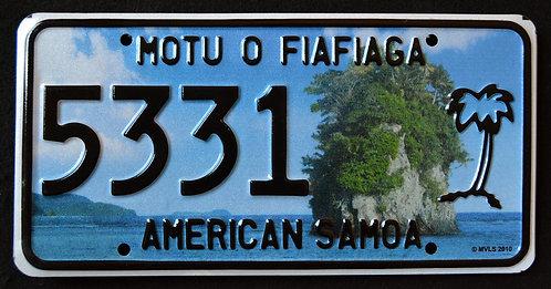 American Samoa - Rock - Palm Tree - 5331