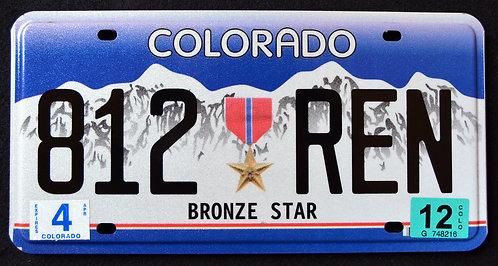 CO Bronze Star Medal - 812 REN