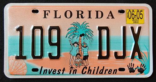 FL Invest in Children - Kids - Palm Tree - Beach - Ocean - 109 DJX