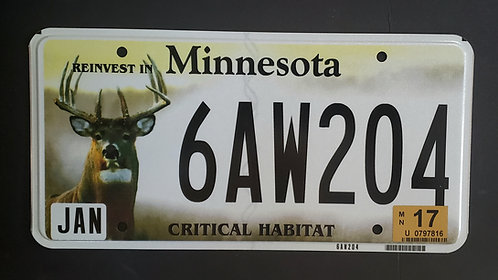 MN Wildlife Deer - Critical Habitat - 6AW204