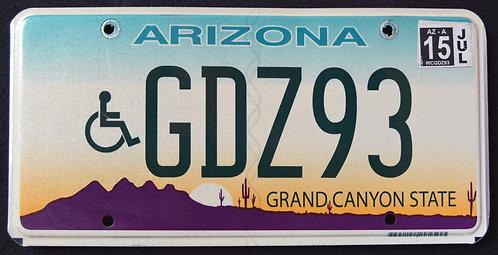 AZ Arizona -  Grand Canyon State - Handicapped - Wheelchair